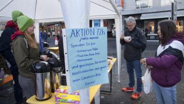 In der Aarauer Altstadt betrieb die Jubla Aarau eine Suppenküche. «Verwerten statt fortwerfen» lautete ihre Devise. | © Roger Wehrli