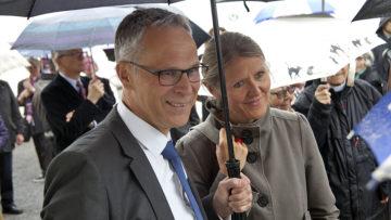 Christoph Weber-Berg, Kirchenratspräsident der reformierten Kirche des Kantons Aargau, mit Ehefrau Camilla.