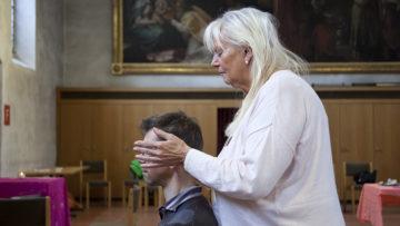 Horizonte-Redaktor Andreas C. Müller beim Selbstversuch mit Bernadette Meier-Michel | © Roger Wehrli