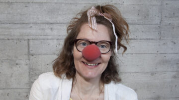 Andrea Moser spielt im Clownduo die Rolle der Lotta Lebensfroh.   © Roger Wehrli