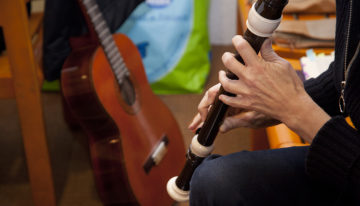 Die Musik bringt die Gedanken in Fluss. | © Roger Wehrli