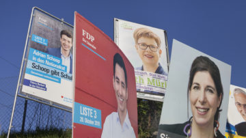 Der überall wuchernde Schilderwald zeigt es: Die Auswahl an Parteien und Kandidaten ist gross. | © Roger Wehrli
