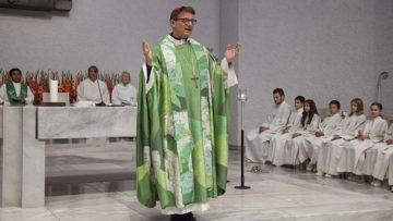 Frei und klar äusserte sich Diözesanbischof Felix Gmür in seiner Predigt: «Jede Macht ist eine Versuchung. Machtmissbrauch - auch sexueller - ist nicht nur eine Schweinerei, sondern auch eine grosse Sünde.» | © Roger Wehrli