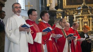 Der Synesiustag in Bremgarten wird jeweils am 4. Sonntag im Oktober mit einem Festgottesdienst und mehreren Augensegnungen gefeiert.   © Roger Wehrli
