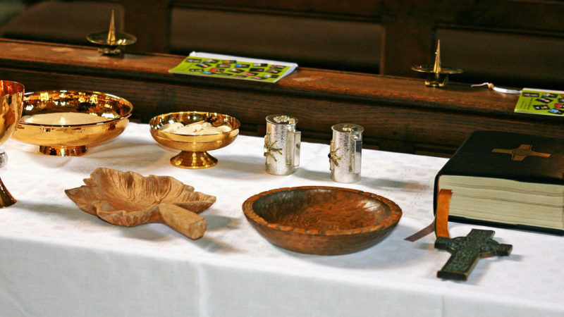 Kostbare Gefässe für die Feier der Eucharistie.   © pajala, Pixabay