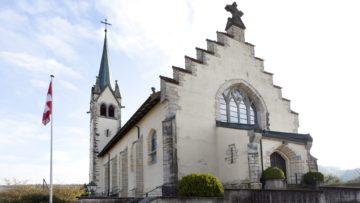 Im Aargau sind die Kirchen in Baldingen, Zeiningen und Fislisbach der Heiligen Agatha geweiht, deren Gedenktag die katholische am 5. Februar feiert. Hier die Kirche St. Agatha in Baldingen. | © Roger Wehrli