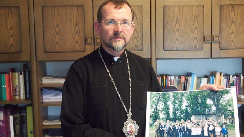 Bischof Bohdan Dzyurakh ist Generalsekretär der Bischofssynode der ukrainisch griechisch-katholischen Kirche und in Kiew stationiert. Von dort aus engagiert er sich für die über 1,8 Millionen Binnenflüchtlinge des Ukraine-Konflikts. Das Hilfswerk «Kirche in Not» unterstützt ihn dabei. | © Andreas C. Müller