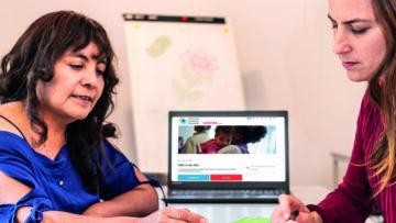 Das neue Online-Angebot soll das traditionelle Gespräch nicht ersetzen, versichert Caritas Aargau.   © Cartias Aargau