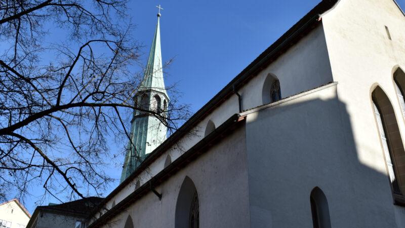 Die ausserordentliche Synode sollte in der christkatholischen Augustinerkirche in der Altstadt von Zürich stattfinden. | Georges Scherrer