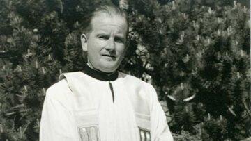 Nach seiner Priesterweihe, 1950, begann Eugen Vogels Karriere als Vikar in Aarau. | © Archiv Eugen Vogel