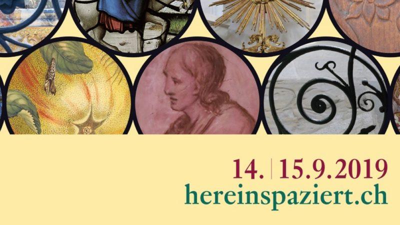 Die Kantonale Denkmalpflege Aargau stellt für jedes zweite Septemberwochenende gemeinsam mit der Kantonsarchäologie, externen Institutionen, Fachleuten und Hauseigentümern ein vielfältiges Programm zusammen. | © Flyer Denkmalpflege Aargau