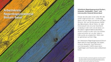 Flyer des Arbeitskreises Regenbogenpastoral. | ©  zvg