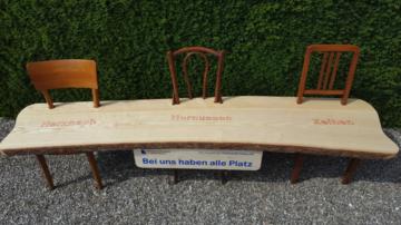 Das Bänkli vom Homberg symbolisiert den Zusammenhalt der drei Pfarreien Herznach-Zeihen und Hornussen. | zvg