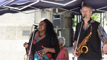 Claudia Masika beflügelte mit ihrer Band das Publikum. | © Marie-Christine Andres