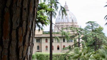 Das Programm der Wallbacher in Rom beginnt mit einer Führung durch die Vatikanischen Gärten. Simon Bussinger hat sich in den vergangenen sechs Monaten einiges an Wissen angeeignet und konnte seine Gäste bestens unterhalten. | © Claudia Berchtold