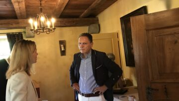 Als Vertreter von «Gesundheitsland Schweiz» verband Franz Wirth das Pilgern auf dem Kolumbansweg mit dem Erleben von Gesundheit und Naturmedizin. | © Marie-Christine Andres