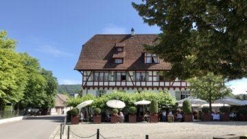 Im ältesten Restaurant der Schweiz, dem Sternen beim Kloster Wettingen, fand die Eröffnung des Kolumbanswegs Schweiz statt. | © Marie-Christine Andres