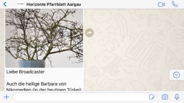 Der Beitrag vom 4. Dezember 2019 zum Barbaratag. | © Christian Breitschmid