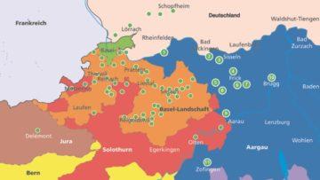 Im Aargau nehmen folgende Kirchgemeinden Besucherinnen und Besucher des Taizé-Jugendtreffens auf: Rheinfelden (1), Stein (2), Eiken (3), Frick/Gipf-Oberfrick (4), Wittnau (5), Herznach-Ueken (6), Hornussen-Zeihen (7), Wölflinswil-Oberhof (8), Erlinsbach (9), Brugg (10), Zofingen (11).   © Vera Jenni/Patrick Honegger