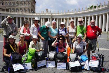 Die Kerngruppe des Pilgerprojekts für eine «Kirche mit den Frauen»  am Dienstag, 28. Juni 2016, in Rom.   © Vera Rüttimann