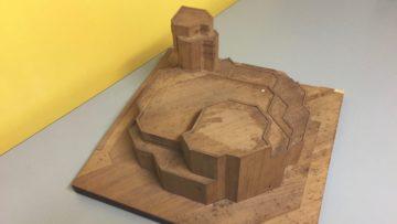Das Modell der Kirche  von Förderer + Otto + Zwimpfer in Basel hatte im Projekt-Wettbewerb für den Neubau der katholischen Kirche in Windisch 1962 den ersten Preis erhalten, wurde jedoch nie gebaut. | © Astrid Baldinger