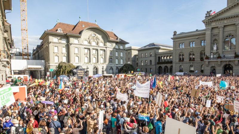 Über Hunderttausend Menschen demonstrierten dieses Wochenende an der Klima-Kundgebung in Bern. | © Delia Frauenfelder