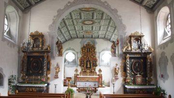 Blick in die barocke Klosterkirche, die nach einem Brand im Jahre 1978 restauriert wurde. | © Andreas C. Müller