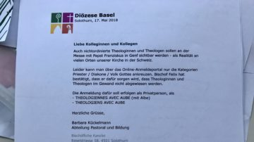 Das E-Mail, welches an die Theologinnen und Theologen im kirchlichen Dienst im Bistum Basel ging. | © Marie-Christine Andres