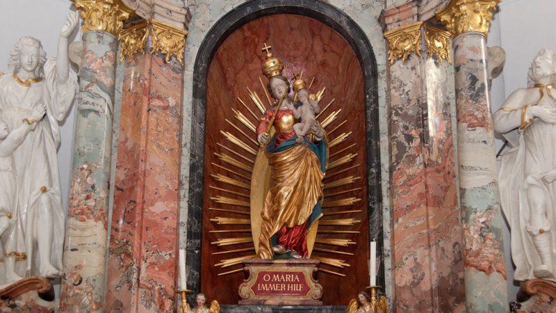 Die Marienstatue in der Kapelle Mariawil in Baden ist das Ziel vieler Pilger. | © Roger Wehrli