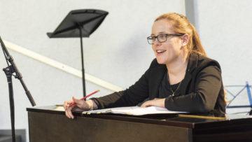 Hatte die Idee: Kirchenmusikerin und Chorleiterin Katja Deutschmann. | © Werner Rolli