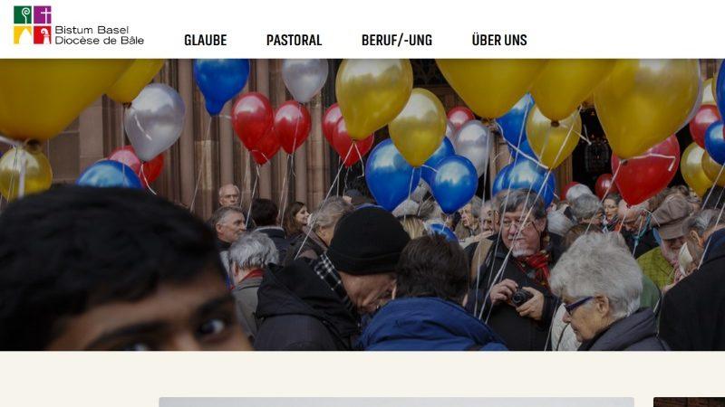Deutlich schlanker und übersichtlicher ist die neue Homepage des Bistums Basel. Viele Fotos und ein helles und frisches Layout laden zum surfen ein.   © Ausschnitt Screenshot