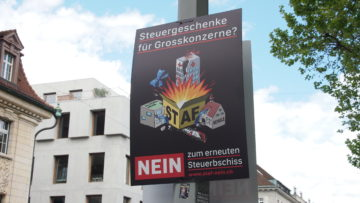 Wenn die STAF-Vorlage angenommen werde, bedeute das  Abbau von staatlichen Leistungen sowie höhere Steuern für natürliche Personen, sagen die Gegner. | © Andreas C. Müller