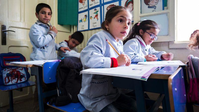 Mit einem Recyclingprojekt finanziert der Weltgebetstag Schulunterricht für Mädchen (Bild aus Syrien) im Libanon. | © Alexandra Wey/Caritas Schweiz