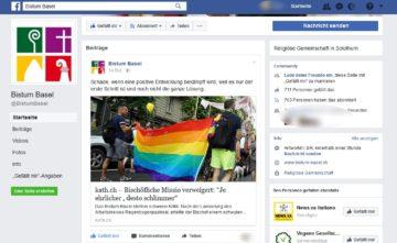 Es sei erst ein Schritt, noch nicht die Lösung. Das Bistum Basel äussert auf seiner Facebook-Seite Enttäuschung darüber, dass die Reaktionen auf die Missio-Verweigerung so scharf ausfallen. | © Screenshot Facebookseite vom 16. Juni 2017