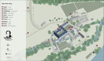 Überblick über den neu geschaffenen Stationenweg rund ums Kloster Fahr. | © siljawalter.ch