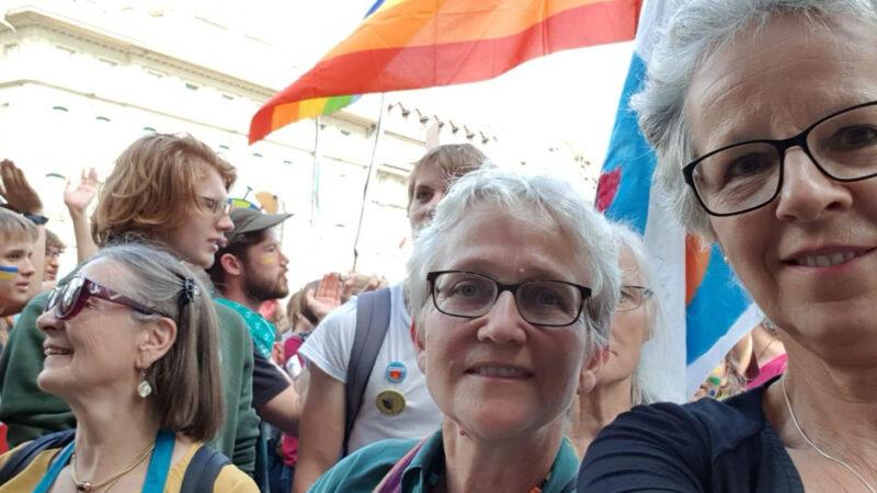 Vroni Peterhans, Vizepräsidentin des Schweizerischen Katholischen Frauenbundes SKF, an einer Klima-Demo in Bern. | zvg