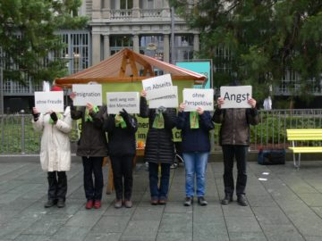 Wortperformance anlässlich der Lancierung der Petition durch die Allianz «Es reicht!» mit dem Titel: «Gemeinsam für einen Neuanfang im Bistum Chur». | © zvg