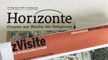 Die interreligiöse Zeitung «zVisite» erscheint als «Dossier zur Woche der Religionen» mit der kommenden Horizonte-Printausgabe. | © Marie-Christine Andres