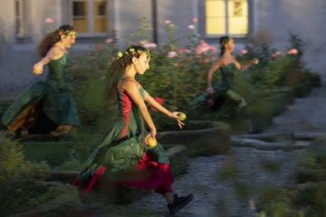 Im Innenhof des Klosters, wo jede Schwester ein eigenes kleines, buchsumhagtes Fleckchen umsorgt, tanzen - so scheint es -  wilde junge Blütenknospen. | © Flamencos en route/Alex Spichale