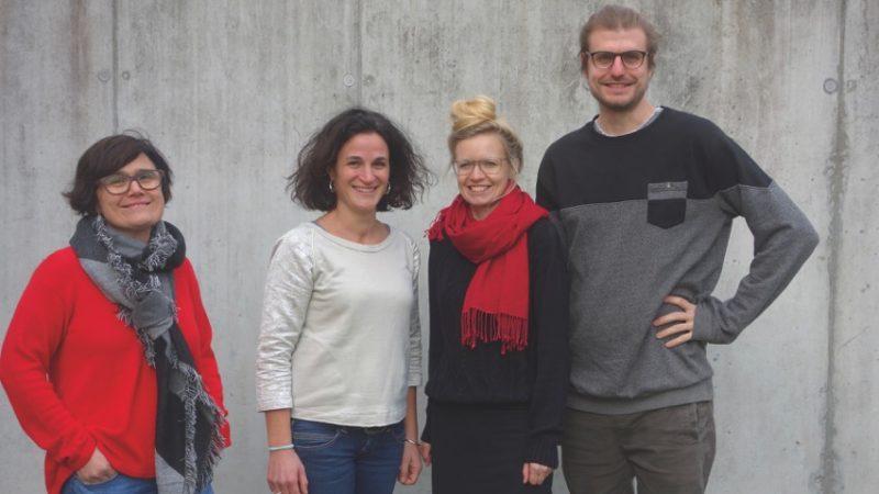 Das Team des Kirchlichen Regionalen Sozialdienstes Region Aarau der Caritas übernimmt neu auch die Jugendberatung in Aarau und Umgebung: Leiterin Isabel Borges, Luzia Capanni, Tanja Schneider und Azubi Matthias Hürzeler (von links). | © Caritas Aargau