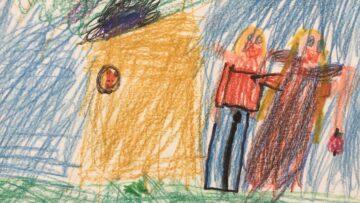 Linda Müller, 6 Jahre, hat fröhliche Kinder im Freien gezeichnet für die Bewohner der Pflegi Muri. | © Andreas C. Müller