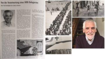 Max Meyer hängte seinen Job als Manager an den Nagel und stellte sich in den Dienst des IKRK. Fotos aus dem Archiv des IKRK in Genf, veranschaulichen im Rahmen eines Porträtbeitrags über Max Meyer, seine Arbeit. Der Beitrag von Otto Walti erschien 1996 in den «Villmerger Blättern». Rechts unten ein aktuelles Foto von Max Meyer. | © Collage Anne Burgmer