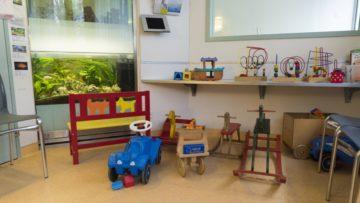 Wartezimmer im Notfall der Klinik für Kinder und Jugendliche im Kantonsspital Aarau. | © Werner Rolli