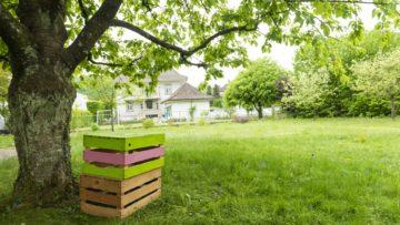 Viel Platz für Familien. Die Freifläche am Nachbarschaftshaus. | © Werner Rolli