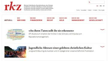 Luftig und leicht präsentiert sich der Internetauftritt der RKZ.   screenshot