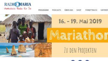 Radio Maria ist nicht nur vollständig spendenbasiert, es funktioniert auch aufgrund von ehrenamtlichen Engagement. Neben Gebetssendungen oder spezifisch katholischen Themen, behandelt Radio Maria auch Lebenshilfethemen. | © screenshot